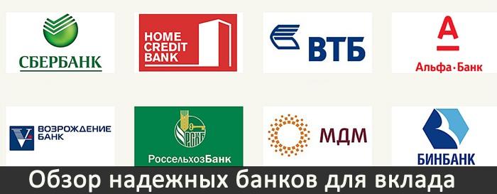 Обзор надежных банков для вклада