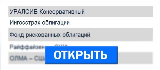 Список Паевых Фондов Москвы