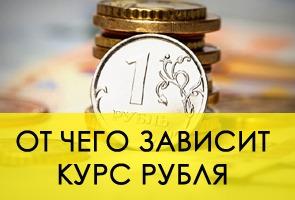 От чего зависит курс рубля